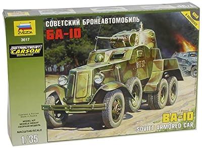 Zvezda 500783617 - 1:35 WWII Soviet BA-10 Gepanzertes Fahrzeug von Zvezda