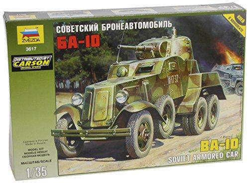Zvezda 500783617 - 1:35 WWII Soviet BA-10 Gepanzertes Fahrzeug