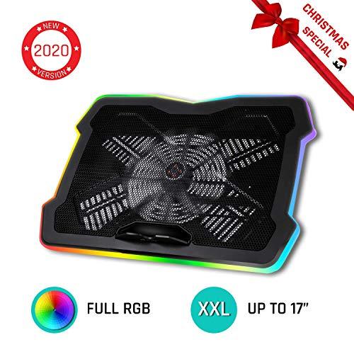 KLIM Ultimate + Laptop-RGB-Kühler- 11 bis 17 Zoll + Laptop-Gaming-Kühlung + Neuheit 2019 + USB-Lüfter + Stabil und leise + Mac- und PS4-kompatibel