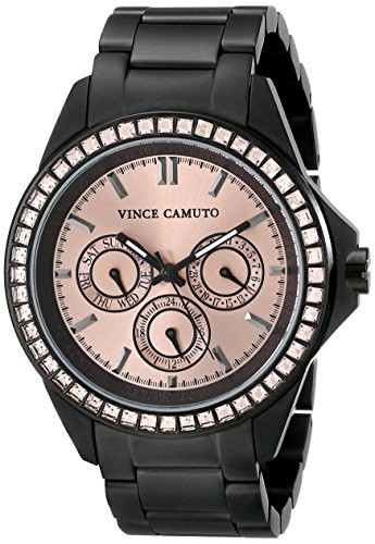 vince-camuto-womens-quartz-watch-with-gold-dial-analogue-display-and-black-stainless-steel-bracelet-