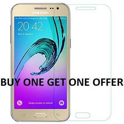 K/B COMBO Tempered Glass Screen Scratch Protector Guard for Samsung Galaxy J7 2015. (BUY ONE GET ONE OFFER)  available at amazon for Rs.149