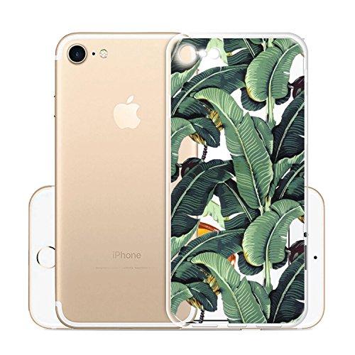 Custodia per iPhone 8, Custodia per iPhone 7, JIENI Trasparente Cover Moda Palloncini colorati Flessibile TPU Silicone Bumper Case per iPhone 8 (2017) et iPhone 7 (2016) WM107