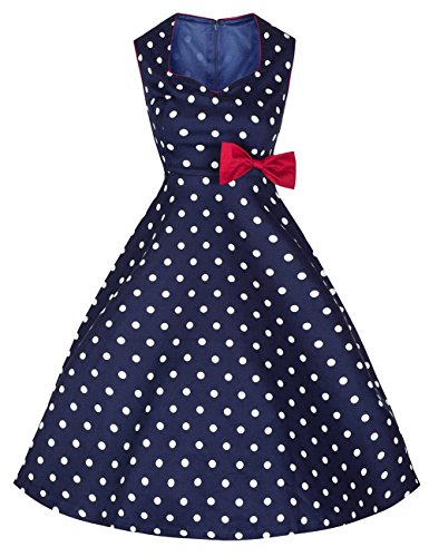 dragonpad-womens-1950s-vintage-bowknot-polka-dots-retro-swing-dress-blue-l