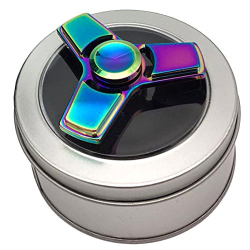 Airsson Fidget Hand Spinner Tri Figit EDC Spinner Focus Toys Stress Reducer for Kids and Adult (Multicolor) - 4