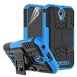 betterfon | Outdoor Handy Tasche Hybrid Case Schutz Hülle Panzer TPU Silikon Hard Cover Bumper für ZTE Blade L110 Blau