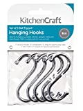 kitchen Craft 5-Piece Chrome Plated S-Hooks, Steel, Silver, 8 x 12 x 16 cm
