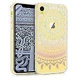 kwmobile Coque Apple iPhone XR - Coque pour Apple iPhone XR - Housse de téléphone en Silicone Rose Clair-Blanc-Transparent