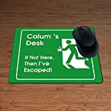 Funktionshose Calum X 's, wenn nicht hier, dann I 've Escaped.–personalisierbar Premium Mauspad–5mm dick