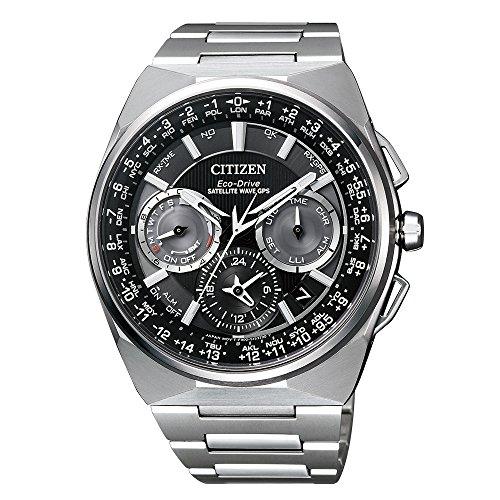 Citizen CC9008-84E Eco-Drive Satallite Wave Chronograph Uhr Herrenuhr Titan Titan 10 bar Analog Chrono Datum Silber