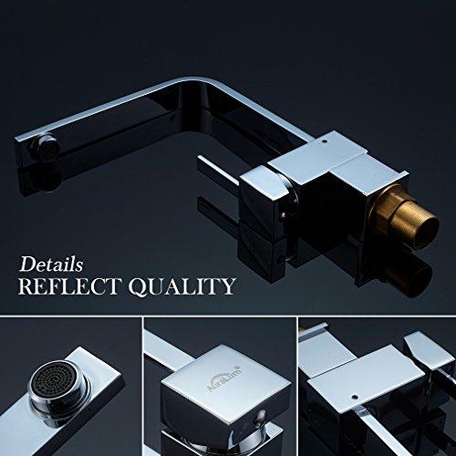 Auralum – Elegante 360° schwenkbare Küchenarmatur, Chrom - 4