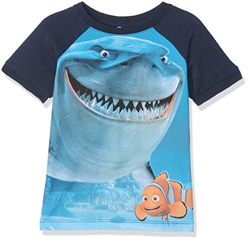 Tshirt Nemo (NAME IT Baby-Jungen T-Shirt Nitnemo Eli SS Top MZ Wdi, Mehrfarbig (Dress Blues), Gr. 86)