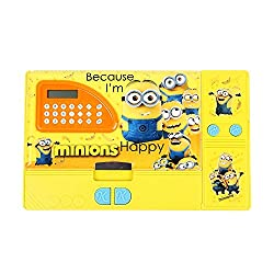 8teen World Jumbo Pencil Box Pencil Box in Princess, Cinderella, Spider Man & Avengers Characters with Calculator (Minon)
