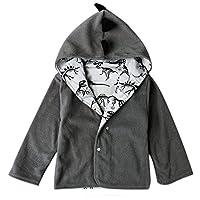 Zerototens Baby Long Sleeve Coats, Newborn Infant Toddler Baby Boy Coat Jacket Warm Hooded Boy Cartoon Dinosaur Clothes Outwear Autumn Winter Outfit
