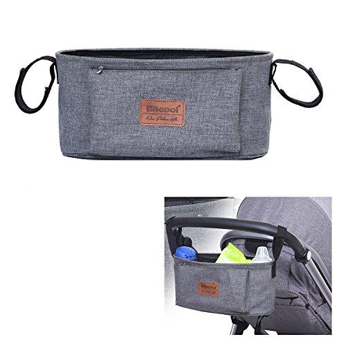 Preisvergleich Produktbild Homgaty Kinderwagen-Aufbewahrungstasche aus Oxford-Stoff, Aufhängetasche für Getränke und Lebensmittel