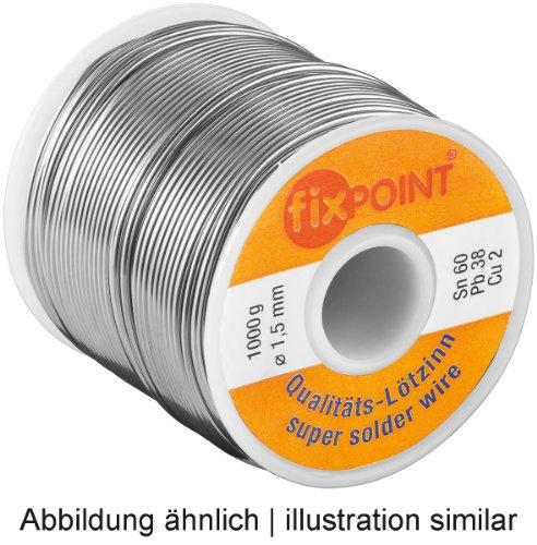 Estaño Ø 1,5 mm 250 G bobina Material: L-SN 60% / Pb 38% / Cu 2%