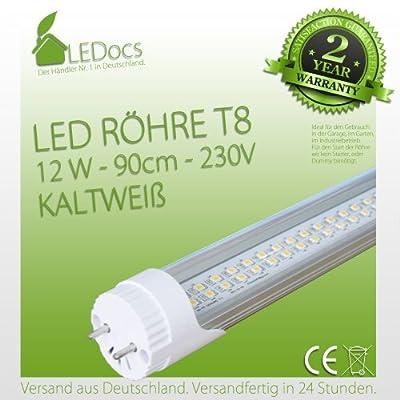 LEDocs SMD LED Röhre Leuchtstoffröhre Leuchtröhre Kaltweiß T8 12W 90cm von LEDocs bei Lampenhans.de