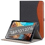 Ztotop Custodia per Samsung Galaxy Tab A 10,1 2016,per Modello SM-T580/T585(Versione Non S Pen),Custodia in Pelle con Supporto,Tasca,Funzione Sveglia/Sonno Auto,Multi-Angolo,Denim Nero