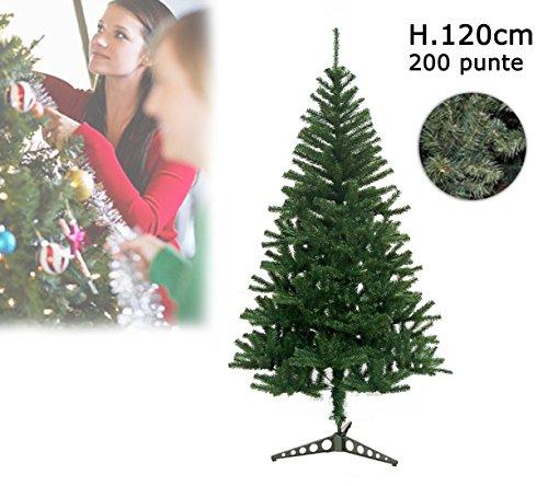 Albero di Natale artificiale 120 cm con 200 punte rami folti PINO DELLE SORPRESE. MEDIA WAVE store