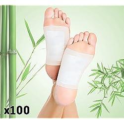 100 Stck Bambus Fußpflaster Detox Bambuspflaster Vitalpflaster Pads Pflaster