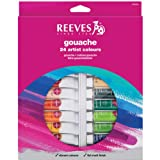 Reeves - Set de 24 tubos de gouache, 10 ml
