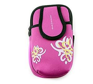 TOVOT Iphone 6plus Samsung Printing Neoprene Sports Bag Phone Custom Outdoor Waist Pack (Rose)