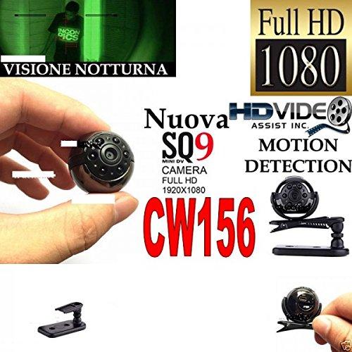 Mini Micro Spionagekamera versteckte Minikamera Infrarot FULL HD Night Vision Mini SQ9Audio Video Foto cw156