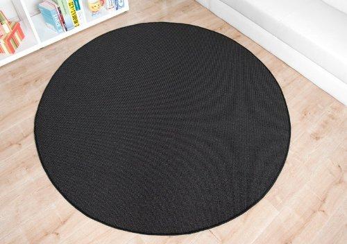 Havatex: Sisal Teppich Trumpf schwarz rund / Geprüfte Qualität / Flormaterial: 100 % Sisal / In verschiedenen Größen erhältlich