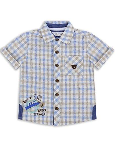 The Essential One - Baby Kinder Jungen - Kurzarm-Hemd - 18-24 M - Blau - EOT210