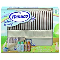 Nenuco bolsa de viaje - incluye leche hidratante, champú, agua de colonia, jabón líquido y dosificador