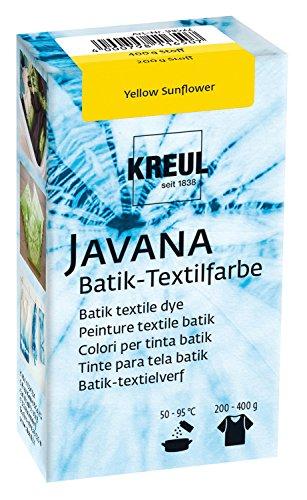Kreul 98522 - Javana Batik Textilfarbe, zum Färben von Textilien mit der Shibori Technik, 70 g Farbpulver in Yellow Sunflower