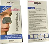 Cameleon Deep Cleansing Charcoal Nose Strips for Men (856974) - Pack of 6