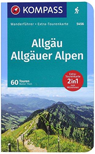 Allgäu, Allgäuer Alpen: Wanderführer mit Extra-Tourenkarte 1:40000, 60 Touren, GPX-Daten zum Download. (KOMPASS-Wanderführer, Band 5456)