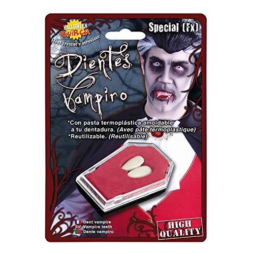 Coppia Denti Canini da Vampiro Accessori Carnevale Halloween