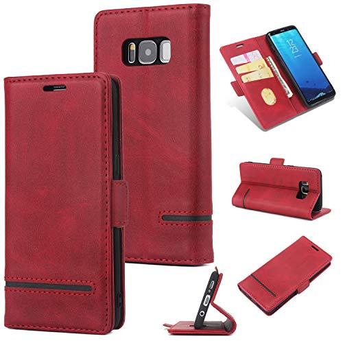 KAMILEO Samsung S8p Hülle, Klapphülle Flip Case Kunstleder mit Schutzhülle Back Cover Protective Brieftasche Wallet Case Magnetische mit Kartenfach Standfunktion