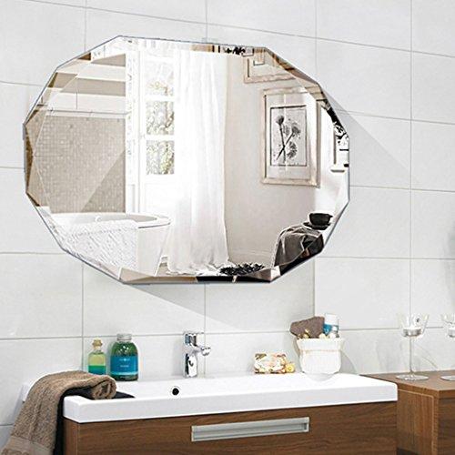 (Briskaari Shop Rahmenlose Wandspiegel Badezimmer Schlafzimmer Wandspiegel Dekorative Make-up-Dress-up Aufkleber Spiegel (Größe : 80cm*100cm))