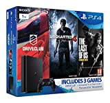 Sony Playstation 4 1 TB Slim Gamer Pack Bundle (Uncharted 4, The Last Of Us, Driveclub) [Importación Inglesa]