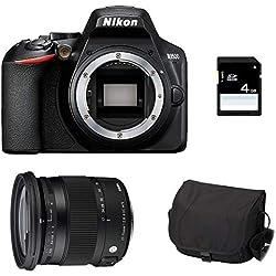 NIKON D3500 + Sigma 17-70 Contemporary + Sac + SD 4Go