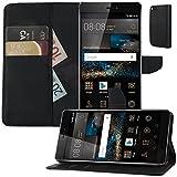 Buch Klapp Tasche Schutz Hülle Wallet Flip Case Etui für Huawei P8 GRA-L09