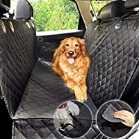 Dog Hammock, Car Seat Cover for Dog, Water-proof Protector for Pet Rear Seat Cover, Non-Slip Universal Size (137*147 cm) with Dog Seat Belt (Black)