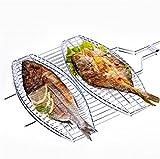 ZERO FAN Grill Rack Grill Und Bratpfanne Elektrische Grillkohle Grill-Barbeque Portable Größere Fisch Edelstahl Antihaft