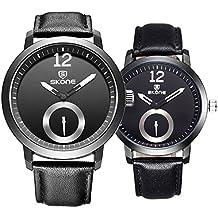 Astarsport - Reloj de pulsera para pareja y mujer, de cuero, para hombres y