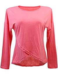 bbfee8b17bab Generic Damen Longshirt Langarm Shirt Longsleeve Oberteil Tunika  Asymmetrisch s-xl