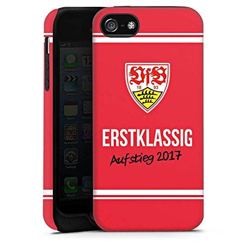 Apple iPhone X Silikon Hülle Case Schutzhülle Vfb Stuttgart Aufstieg Fußball Tough Case matt