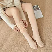 Explopur Women Warm Plush Lined Stockings Thigh High Winter Solid Pantyhose Leg Warmer Open Toe Casual Socks f