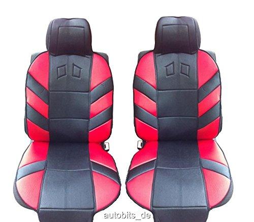 2 vordere Sitzauflagen Sitzaufleger Auto Rot Autositzauflage Auflage Autositz Schutz
