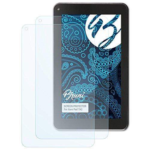 Bruni Schutzfolie für Xoro Pad 7A2 Folie, glasklare Displayschutzfolie (2X)