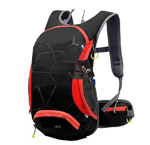 Imagen de rephyllis  de ciclismo profesional al aire libre 15l nylon ultra ligera impermeable bicicleta  bolsa de escalada con almacenamiento para casco para deportes al aire libre negro