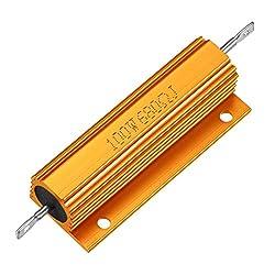 Sourcingmap Aluminium Fall Widerstand 100W 680Ohm Wirewound Gold für LED Ersatz Konverter 100W 680rj
