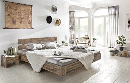 guenstiges doppelbett Woodkings Bett 180x200 Hampden Doppelbett Akazie Rustic Schlafzimmer Massivholz Design Doppelbett Schwebebett Massive Naturmöbel Echtholzmöbel günstig