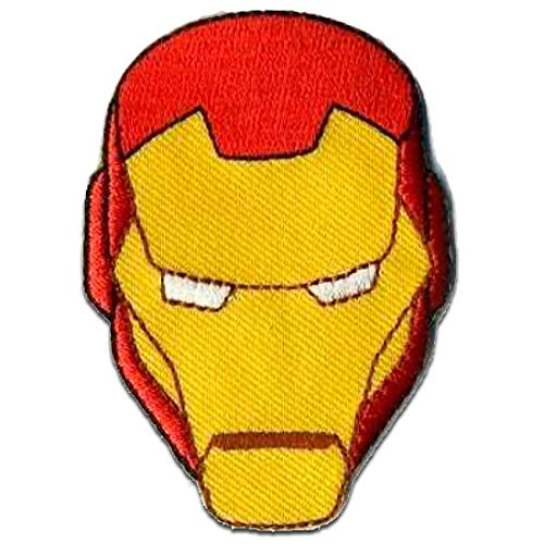 - Avengers 'Iron Man 2' - gelb - 6,4 x 4,5 cm - by Marvel© Patch Aufbügler Applikationen zum aufbügeln Applikation Patches Flicken ()